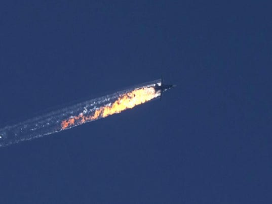 EPA EPASELECT TURKEY SYRIA RUSSIA WARPLANE DOWNED WAR WAR SYR