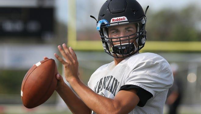 Franklin senior quarterback Max Alba passed for 2,544 yards and 29 touchdowns last season.