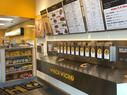 Which Wich is known for its unique ordering system. Customers use red Sharpie pens to mark up preprinted menus on sandwich bags.