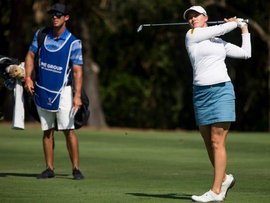 LPGA Tour pro Sarah Jane Smith on the seventh hole
