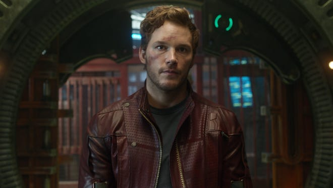 """Peter Quill (Chris Pratt) finds himself teamed with four other oddball outer-space personalities in """"Guardians of the Galaxy."""""""