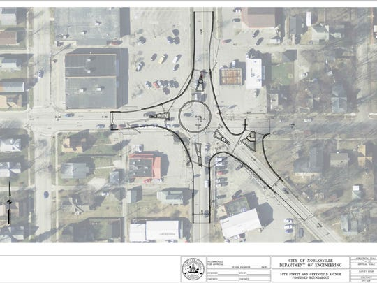 Noblesville plans to build a $1 million roundabout at the 5-way intersection of 10th Street, Greenfield Avenue and Christian Avenue.