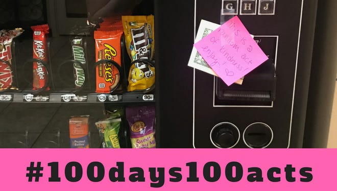 Local real estate office Eldridge Home Team started a mission to perform 100 acts of kindness over the course of 100 days. One of these acts included taping cash to a vending machine.