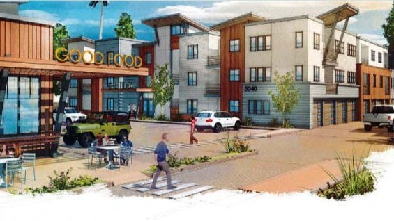 Contributed Photo/City of Ventura Rendering shows mixed-use project proposed for Telegraph and Day roads.