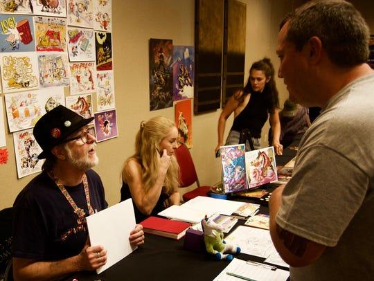 Ren & Stimpy creator Bob Camp met fans and signed autographs