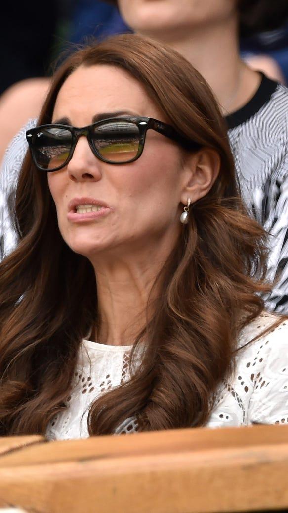 Duchess Kate's worried look