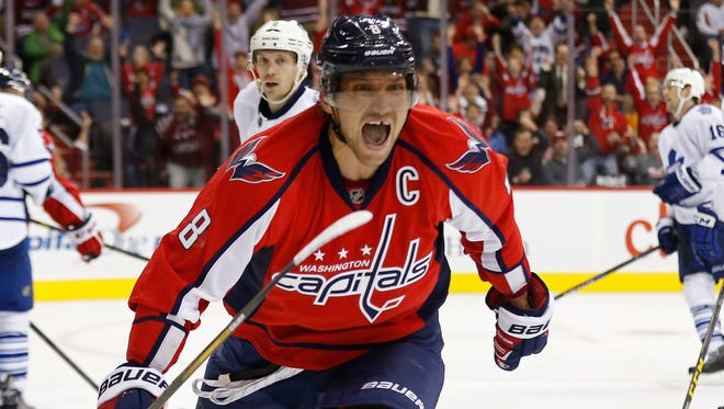 Washington Capitals left wing Alex Ovechkin has recorded six 50-goal seasons in his career.