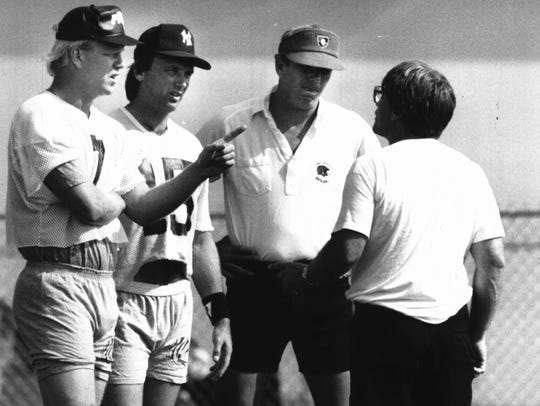 August 11, 1989: Boomer Esiason, Turk Schonert, Sam