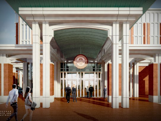 This is the entrance for latest design for the Rutherford