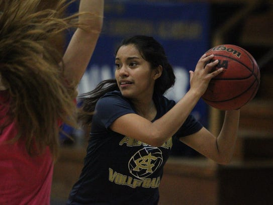 Above: Aucilla Christian's Natalie Vasquez runs through