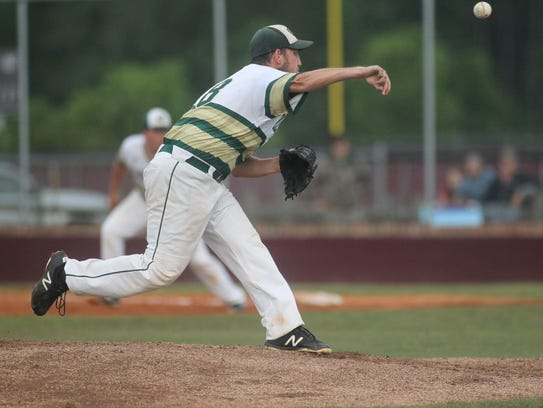 Caleb Lanoux pitches as Chiles fell 7-3 to Fleming