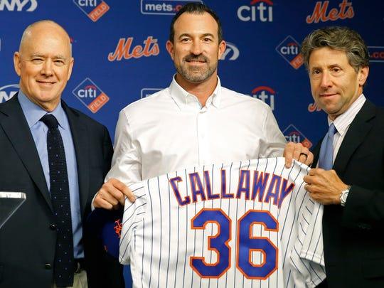 Sandy Alderson, Mickey Callaway, Jeff Wilpon
