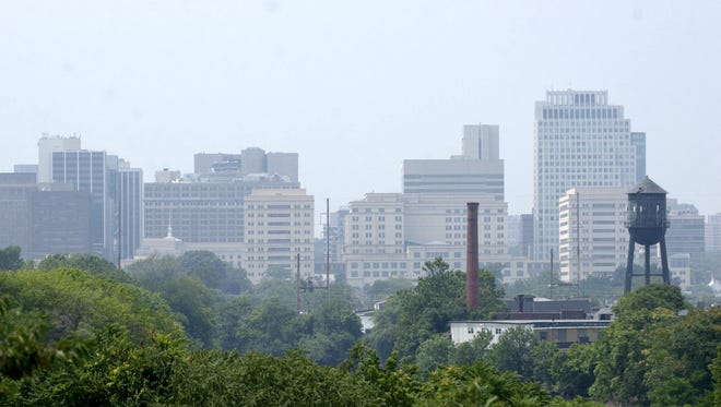 Wilmington skyline from near the Delaware River. State and city lawmakers are pushing a proposal to make it easier for the city to expand its borders.