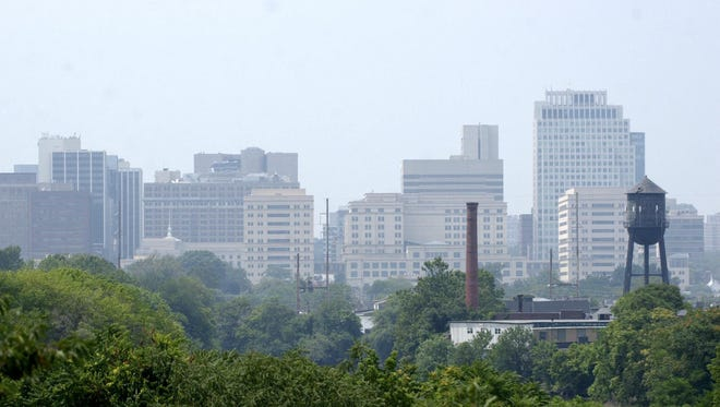 The Wilmington skyline from near the Delaware River.