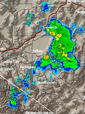 A look at National Weather Service radar earlier Thursday evening.