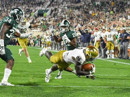 NCAA Football: Notre Dame at Michigan State