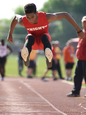 Kennedy's Jason Thobourne, who didn't start high jumping until he came out for outdoor track last March, won the boys event Monday at the second Garfield High jump/shot put meet, clearing a personal best 6 feet 8 inches.