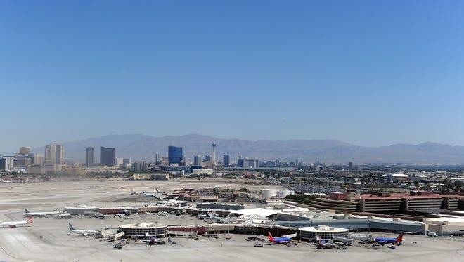Aerial view of the Las Vegas McCarran International Airport in 2011.