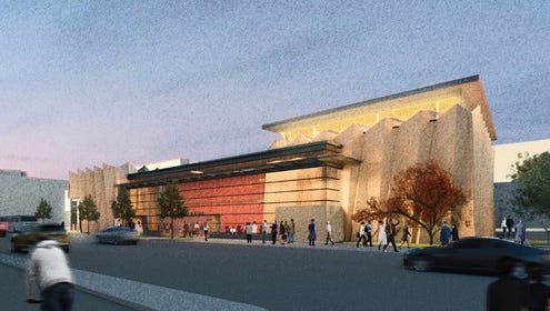 An artist's rendering of the new University of Wisconsin-Madison School of Music building. The Mead Witter Foundation announced Thursday it would give $25 million toward the $55.8 million project.
