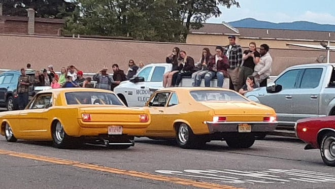 Spectators line Canada Street in Lake George for the annual Adirondack Nationals. The Mayor of lake George believes that maybe the show has outgrown the Village.