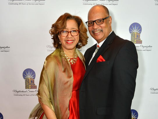 NSO President/CEO Sheilah Clay, left, with husband