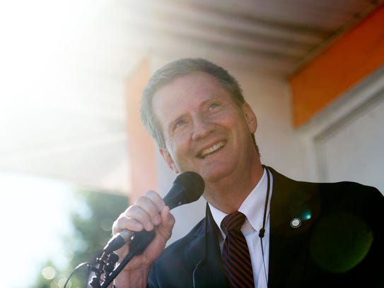 Knox County Mayor Tim Burchett announces his candidacy for Congress on Aug, 5, 2017. Burchett is running for the 2nd Congressional District of Tennessee in 2018.