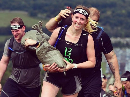 Greencastle's Mandi Beckley, along with a contingent of other locals, competed in last weekend's Pennsylvania Spartan races in Palmerton.
