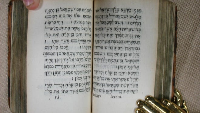 The rare Hebrew Bible was from the collection of Andrew Fletcher, a 17th-century Scottish politician renowned for his private library.