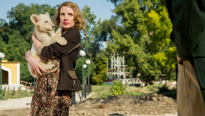 "Jessica Chastain stars in ""The Zookeeper's Wife."""
