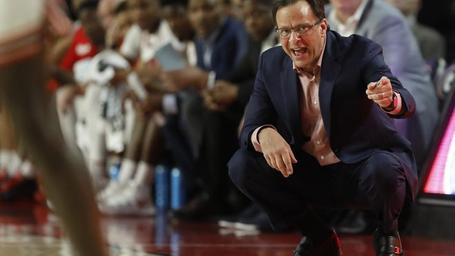 Georgia coach Tom Crean during an NCAA basketball game between Arkansas and Georgia in Athens, Ga., on Saturday, Feb. 29, 2020.