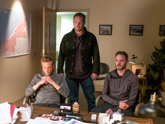 Ashton Holmes (from left) Cole Hauser and Shawn Ashmore