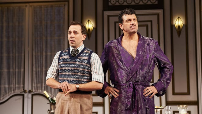 """Rob McClure (left) and Bradley Dean in """"A Comedy of Tenors."""""""