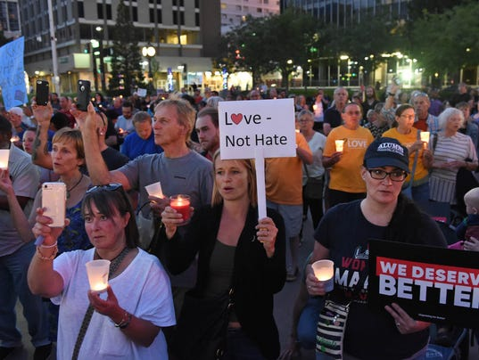 Vigil for the Victims of Charlottesville