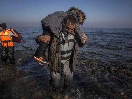 APTOPIX Greece Migran_Klin