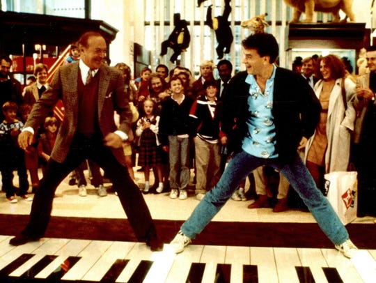 Robert Loggia, left and Tom Hanks in the 1988 comedy