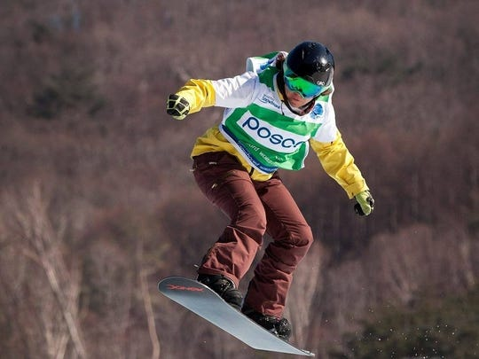 Brittani Coury, who grew up in Aztec, is seen in this provided photo training for the 2018 Winter Paralympic games in Pyeongchang, South Korea. She won a silver medal there Friday.