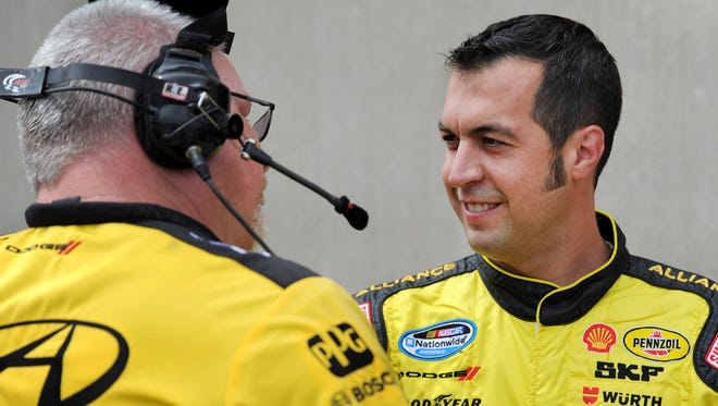 Sam Hornish Jr. (shown here in 2012) made his IndyCar Series TV debut last weekend at Sonoma Raceway.