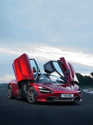 The McLaren 720S has doors that open up and out, which