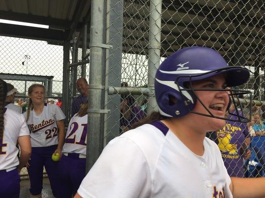 Benton's Kentucky Kratzer celebrates home run against