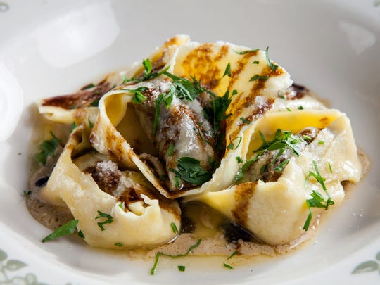 Tortelloni with beef short rib and foie gras emulsion