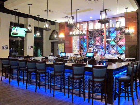 The bar at Stoney's Stone Crab, which opened in late