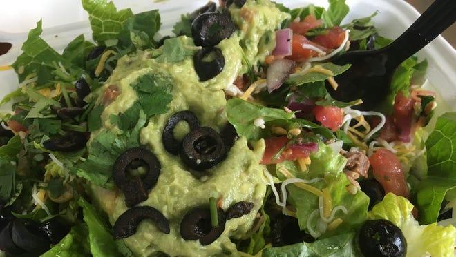 A burrito bowl (sans magic tortilla) was still pretty magical from 3 Peppers Burrito Co. in Cape Coral.