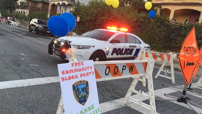 Ossining police throw a surprise block party for the neighborhood.