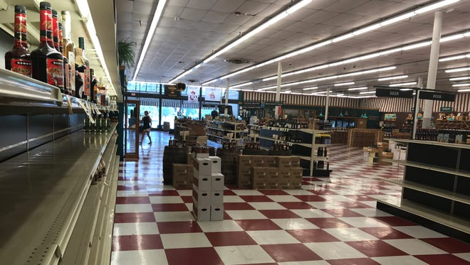 Shelves are nearly bare as Farragut Wine & Spirits sells down its inventory.