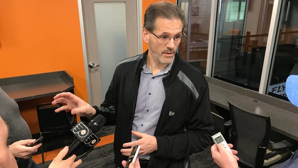 General manager Ron Hextall has some decisions to make