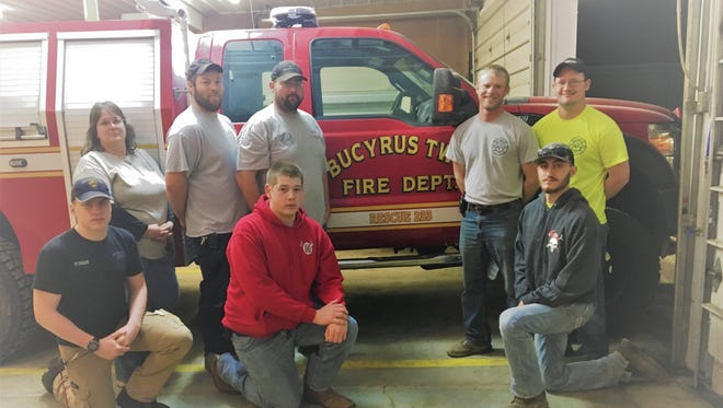 From left, front areMarcus Fagan, Nick Kalb andJaden Coffman; and back,Kathy Knecht, Shaun Knecht, Dave Snyder , Shawn Rowlinson and Luke Miller.