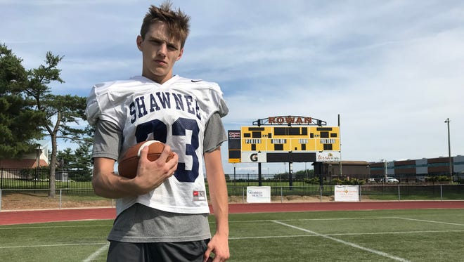 Shawnee's Jake Schillinger broke his collarbone on the first play from scrimmage during the South Jersey Group 4 final at Rowan in December. He returned to Rowan this week for the annual Adam Taliaferro Foundation All-Star Football Classic.
