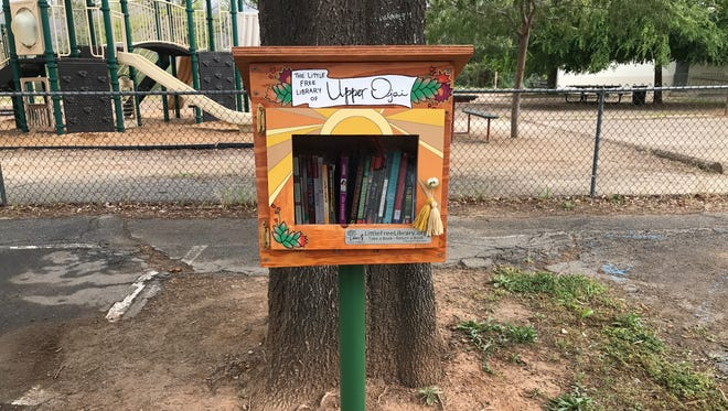 The Little Free Library at Summit School in Upper Ojai is one of 12 paid for through a grant to the Ojai Valley Library Friends and Foundation.