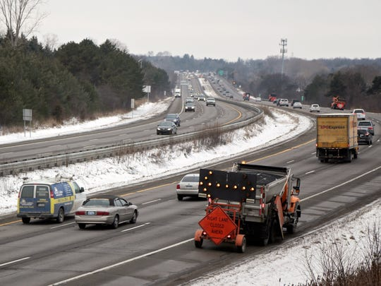 I-75 north is seen from Crooks Road on Tuesday, Feb. 16, 2016, in Troy.