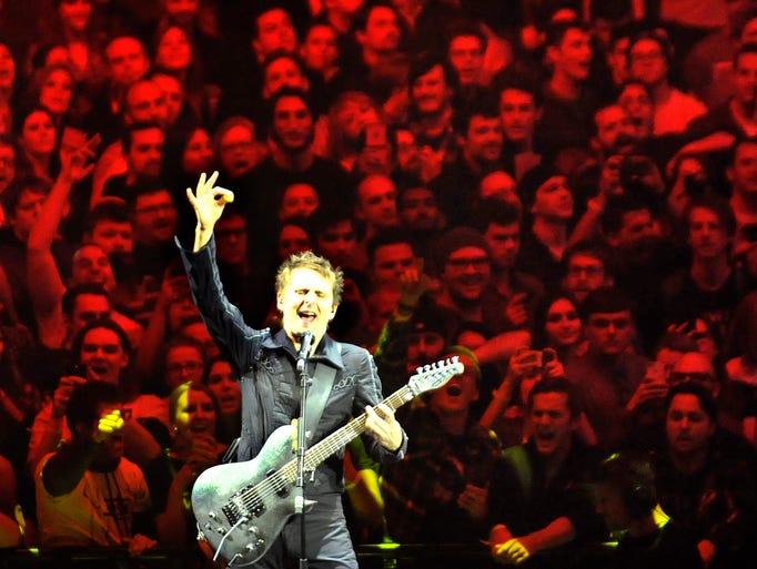 Matt Bellamy, lead singer and guitarist of the English